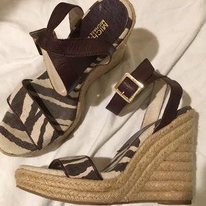 Michael Kors zebra wedge sandal